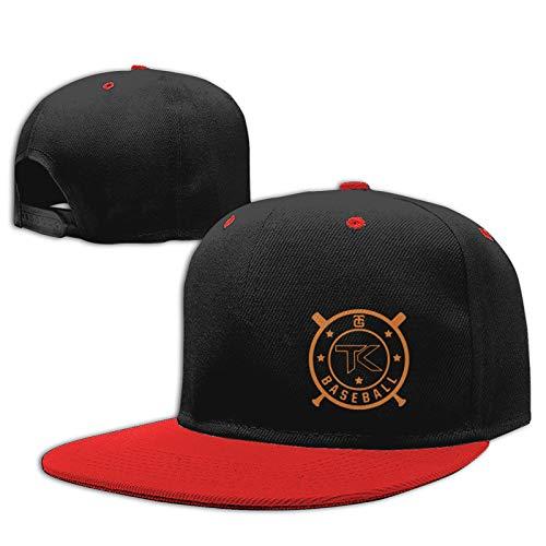 Jiso-Bag コントラスト ヒップホップ ベースボール キャップ 東京ジャイアンツ野球 Red 帽子 野球帽 平つば 硬つば 長つば スナップボタン メンズ