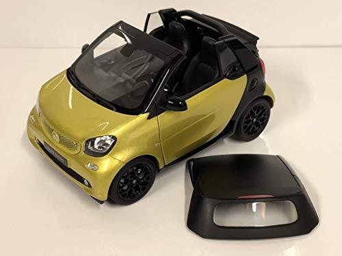 Smart fortwo Cabrio (A453), metallic-gelb/schwarz, 0, Modellauto, Fertigmodell, I-Norev 1:18