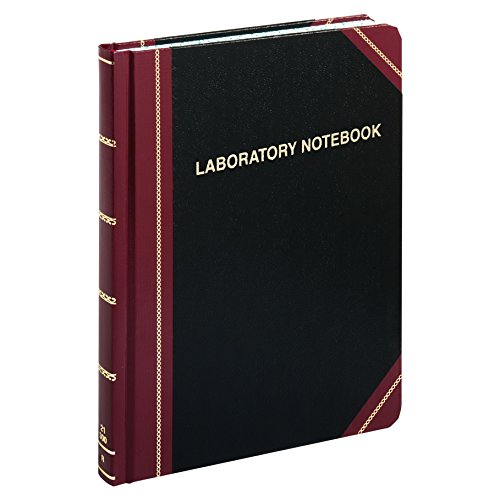 Boorum & Pease Special Laboratory Notebook, Record Ruled, Black, 300 Pages, 10-3/8