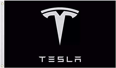 Black Tesla Motors Logo 3x5 Flag,Banner, Accessory Model 3 Model X Model S