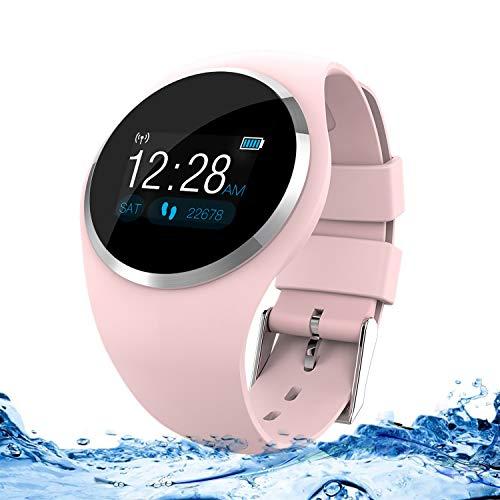 Zeerkeer Smartwatch, polshorloge, hartslag-, bloeddruk-, zuurstofmonitor, waterdicht, IP67 Facebook/Twitter/WhatsApp-fitnesstracker