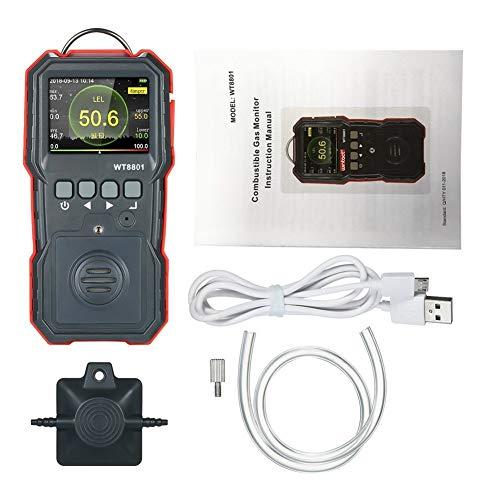 no-branded Professionelle brennbares Gas-Detektor LCD-Anzeige High Precision Brennbare Gaszähler mit Sound-Licht Vibrationsalarm XXYHYQHJD