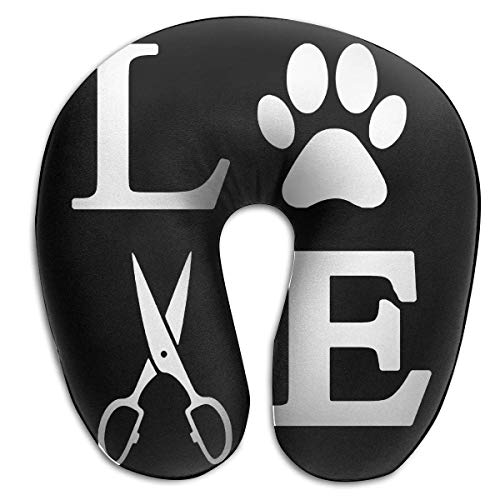 EighthStore U-förmiges Kissen Love Dogs Dog Groomer Paw U-Shaped Pillows Comfortable Neck Pillow...