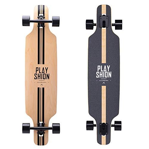 Playshion 39 Inch Drop Through Freestyle Longboard Skateboard Cruiser...