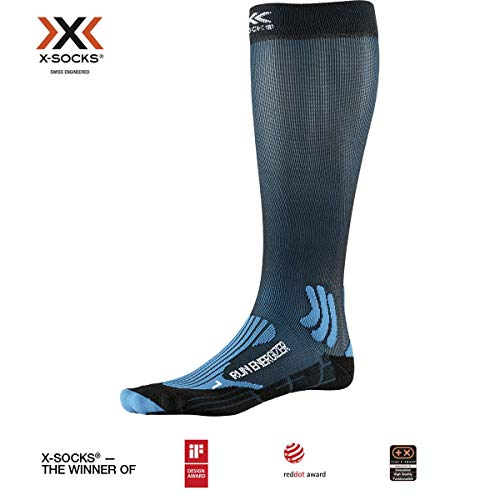 X-Socks Socks Run Energizer, Teal Blue/Opal Black, 42-44, XS-RS09S19U-A007-42/44