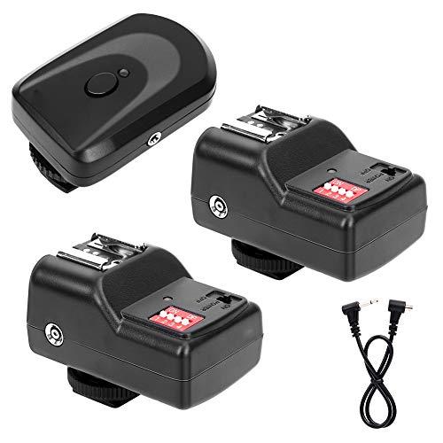 Ensemble de déclencheur de flash, 1 jeu de déclencheur de flash sans fil à fréquence 433 MHz, câble de fil de synchronisation 16 canaux indépendants en métal + plastique pour Nikon