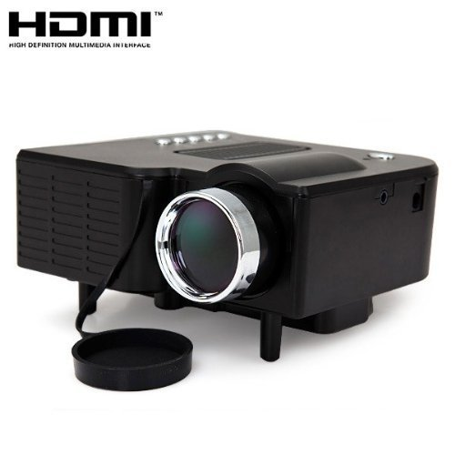 24W Mini Multimedia LCD Image System LED Projector with SD / USB / AV / VGA /HDMI Port Color: Black Size: UC28
