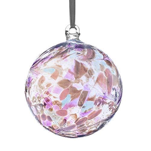 Sienna Glass June Birthstone Glass Friendship Ball-Pearl, 11 x 11 x 14 cm