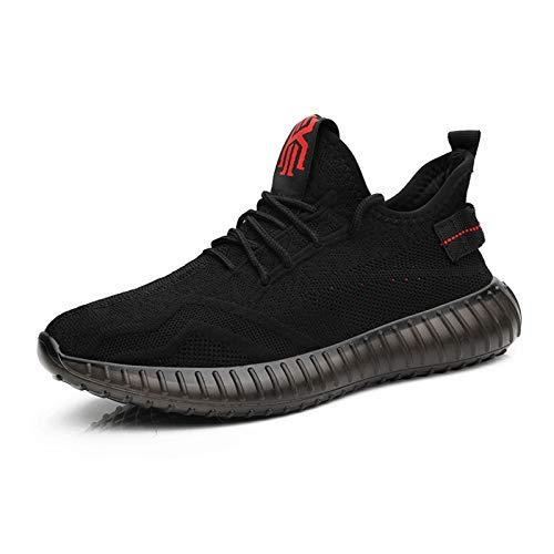 JUST ALONE Zapatillas Running para Hombre Fitness Zapatos Deportivas Ligero Gimnasio Aire Libre y Deporte (Color : Negro, Size : EU 38)