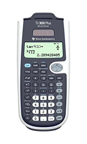 Texas Instruments 30XPLMV/TBL/3E1/A TI-30X Plus Multiview rekenmachine, 4-regelig