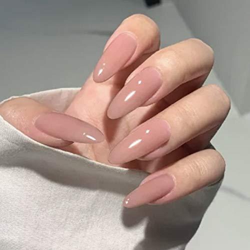 IYOU Glitzer Falsche Nägel Glänzender Stiletto gefälschter Nagel Langer künstlicher Nagel mit voller Abdeckung Drücken Sie auf Nägel für Frauen und Mädchen (24 Stück)