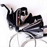Nice-Doormats Bicicleta de montaña de 21/24/27 velocidades, transmisión de bicicleta con dial de dedo combinado, accesorios EF65-7-8-9-EF65-7, par de 21 velocidades_Talla única