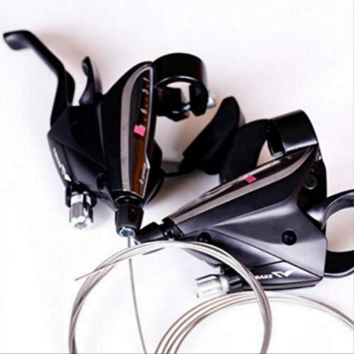 Nice-Doormats Bicicleta de montaña de 21/24/27 velocidades, transmisión de bicicleta con dial de dedo combinado, accesorios EF65-7-8-9-8 velocidades para un solo derecho_Talla única