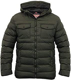 Tokyo Laundry Mens Jacket Coat Hooded Padded Quilted Bubble Zip Casual Winter