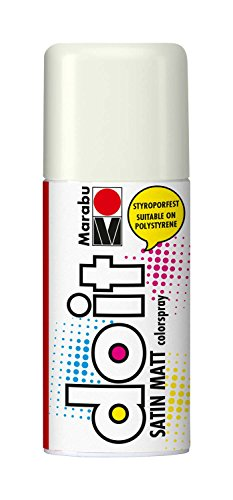 Marabu 21070006070 - Do it Satin Matt weiß, Colorspray auf Acrylbasis, styroporfest, schnell trocknend, sehr gute Deckkraft, wetterfest, für große und kleine Bastelarbeiten, 150 ml Sprühdose