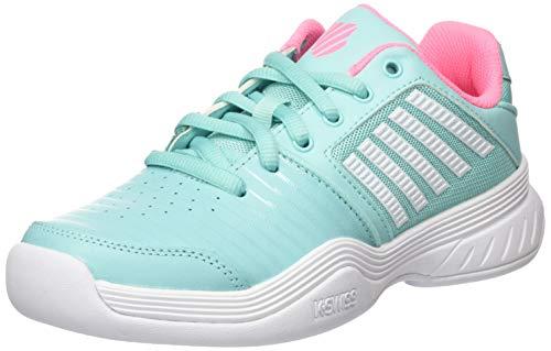 K-Swiss Performance KS TFW Court EXP Carpet SFT PNK/WHT Tennisschuh, Aruba Blue/Soft neon pink/White, 38 EU