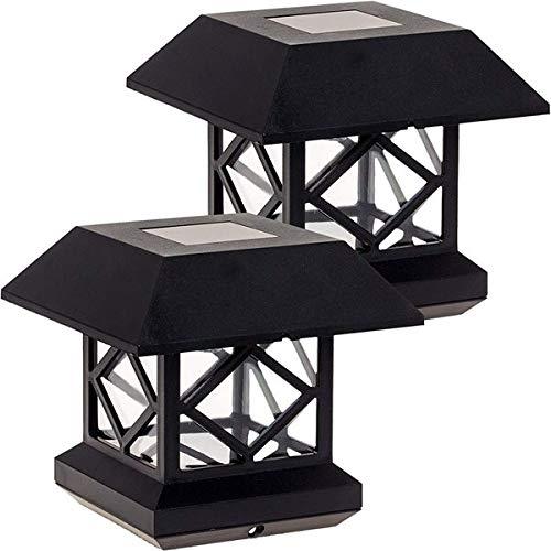 cherrypop Solar-Pfostenkappe, Solar-Zaun-Licht, Landschafts-Lampe, Gartenpfahl-Kappe, wasserdicht, für den Außenbereich, Spalte, Pfad, Deck, quadratisch, Dekoration, intelligentes Licht