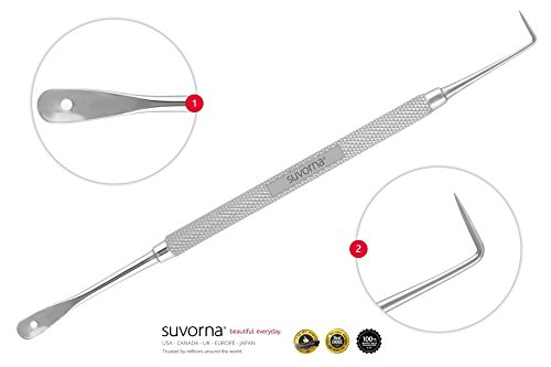 Suvorna Skin Care Pimple Blemish Remover & Comedone Extractor with Needle Point Lancet Skinpal s75