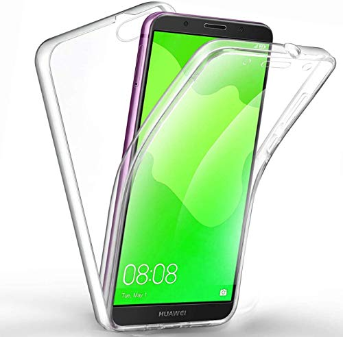 COPHONE - Funda para Huawei Y7 2018 100% Transparente 360 Grados de...