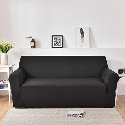 ASCV Fundas de sofá de Spandex para Sala de Estar Color sólido seccional en Forma de L Funda de Esquina Funda de sofá Protector de Silla A1 4 plazas