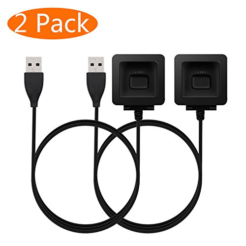 KingAcc Kompatibel Fitbit Blaze Ladekabel, Ersatz USB Ladegerät Ladestation, Laden Kabel Charger, Charging Dock Adapter für Fitbit Blaze(3,3 Fuß / 1 Meter, 2-Pack)