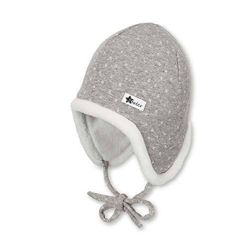 Sterntaler Inka-Mütze für Mädchen mit kuscheligem Innenfutter, Gefüttert, Alter: 9-12 Monate, Größe: 47, Grau (Kiesel)