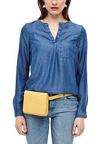 s.Oliver RED Label Damen Tunika-Bluse aus Light Denim Blue 40