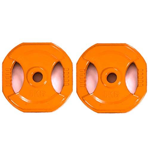 Disco de Barra Cuadrada - 1 Par Plato de Pesas de Entrenamiento de Pesas - MAX 10kg,2x5kg