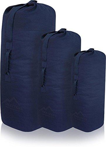 normani US Canvas-Baumwolle Seesack Duffle Bag Classic Sea Farbe Navy Größe 125 x 75 cm