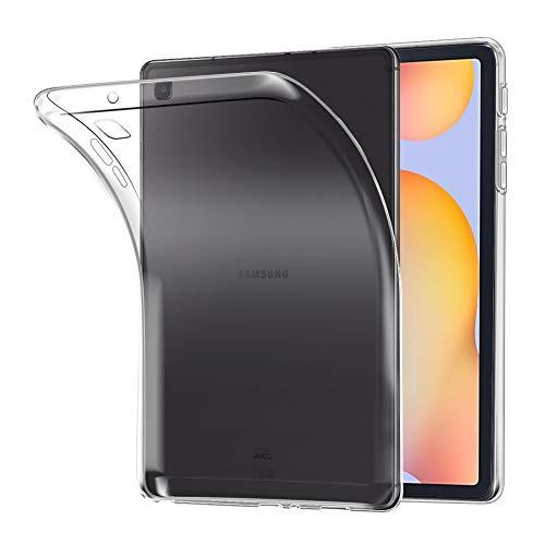 A-VIDET Hülle für Samsung Galaxy Tab S6 Lite,Ultradünnes Silikon Mattierte Softschale Rundumschutz Anti-Fall Anti-Fingerabdruck Gehäuse Einfache Rückenschutzhülle für Galaxy Tab S6 Lite(Transparent)