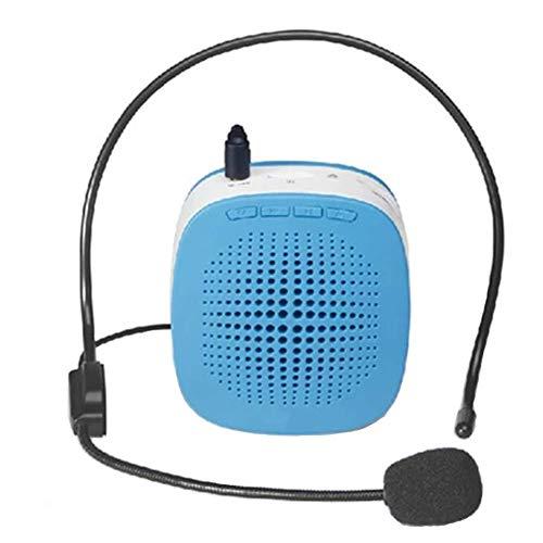 HLKJ beweegbare voice versterker, kleine spraakversterker, draagbare microfoon luidspreker met insert TF-kaart op Play Music voor coaches training/presentatie etc.