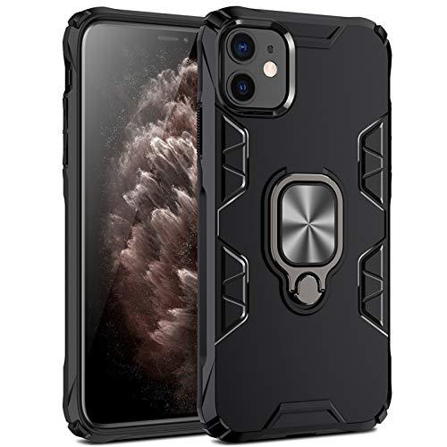 Funda para Apple iPhone 12 Pro Max con anillo de soporte, carcasa de metalcarcasa de silicona suave antigolpes soporte magnético para coche funda protectora para iPhone 12 Pro Max (4)