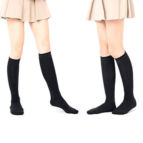 Seacanl Calcetines de Baile Calcetines de algodón Antideslizantes amigables con la Piel Calcetines de Mujer Medias Altas Calcetines de Yoga Calcetines Antideslizantes para Exteriores