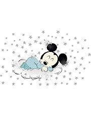 Kibi - 2 Pegatinas Infantiles Pared Minnie Pegatinas Decorativas Pared mickey Mouse Stickers Pared Mickey Dormitorio Calcomanias para Niños Pared Calcomanias Mickey XXL