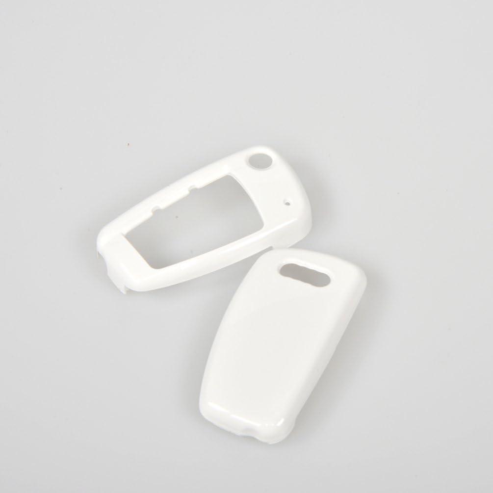 jcsportline automatique Cl/é de Voiture Cha/înes Protection Coque Housse pour A6L A1 Q3//Q7//TT R8 A3 S3 blanc blanc
