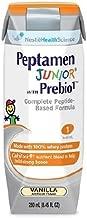 Nestle Peptamen Junior Vanilla With Prebio 1.0 Calorie 250 Milliliter, Case of 24