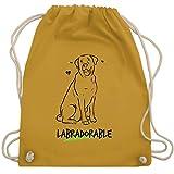Shirtracer Hunde - Labradorable - Unisize - Senfgelb - Geschenk - WM110 - Turnbeutel und Stoffbeutel aus Bio-Baumwolle