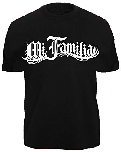 Camiseta con diseño de Mi Familia La Vida Loca Black Pearl Auto Moto MI Decal Shirt XXX Negro XL
