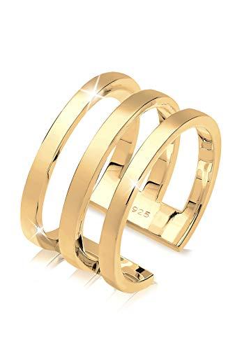 Elli Ring Damen Wickelring Geo in 925 Sterling Silber