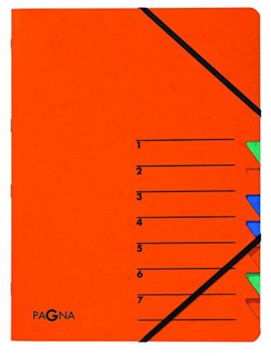 Pagna Ordnungsmappe Easy (Sammelmappe, 7 Fächer, 1-7) orange