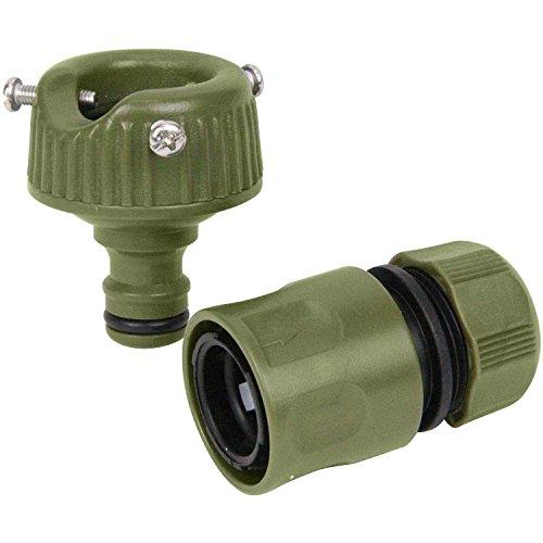 セフティー3 蛇口ニップルセット カラー 適合ホース内径12~15mm オリーブ SSK-7 OL