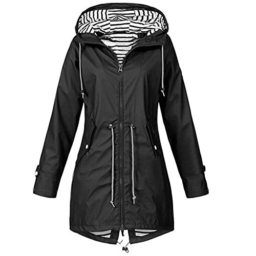 Chaqueta de mujer impermeable chaqueta de lluvia al aire libre senderismo ropa ligera