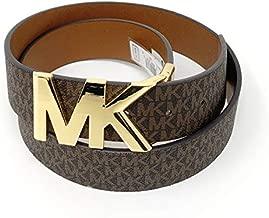 Michael Kors Womens Reversible MK Logo Belt Brown/Brown (S)