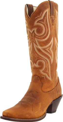[Durango] Women's Crush 13-Inch Narrow Boot,Distressed Cognac,8 B US