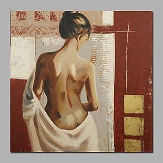 XHL Art Handgemalte Abstrakt Abstrakt Abstrakt   Menschen   AktmalereiModern Ein Panel Leinwand Hang-Ölgemälde For Haus Dekoration , 20  x 20  B0788L6C5B  Zart f03d7d