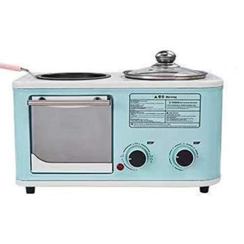 Ontbijt broodrooster Gebakken ei machine Drie in een multifunctionele Bradend Koken Pink 1200 watt Baking machine,Blue