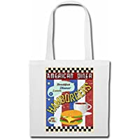 Bolsillo Bolso Bolsa American Diner hamburguesa del cheeseburger de ENSALADA DE CAFÉ DESAYUNO COMIDA dieta de adelgazamiento CALORÍAS FIGURA APTITUD IMC ENGRASAMIENTO DICK DELGADO FIGURA DESTACA ÁMBI