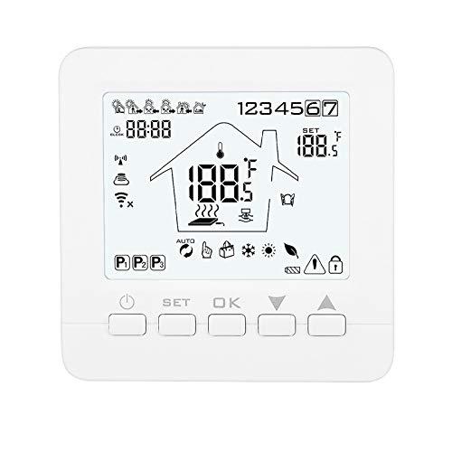 Konesky Konesky Termostato programmabile Wifi intelligente Termostato APP Controllore TUYA per riscaldamento a gas con scaldabagno elettrico elettrico Lavorare con Alexa Google Home
