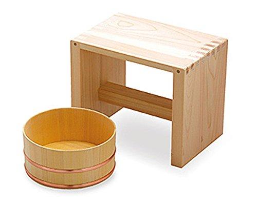 てまひま工房 湯浴セット  (風呂桶、風呂椅子) 83694