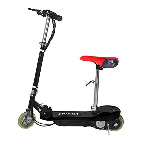 GODLOVEYOU elektrische scooter opvouwbaar voor volwassenen tot 30 km/h scooter mini elektrische scooter draagbaar zonder achterlicht voor en achter, zwart